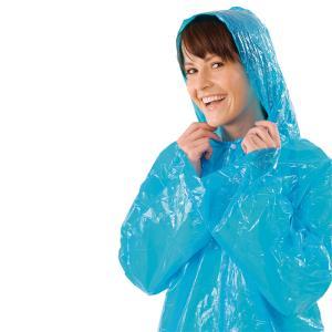 PE-Schutzmantel mit Kapuze, blau