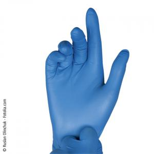 Latex-Handschuh, blau, puderfrei