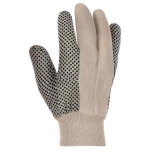 Baumwoll-Köper-Handschuh mit Noppen