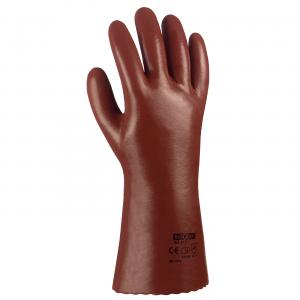 PVC-Handschuh rotbraun 27 cm