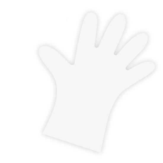 LLDPE-Einweghandschuhe transparent