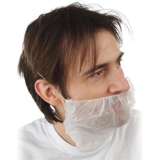 PP-Bartschutz mit Gummizug weiß