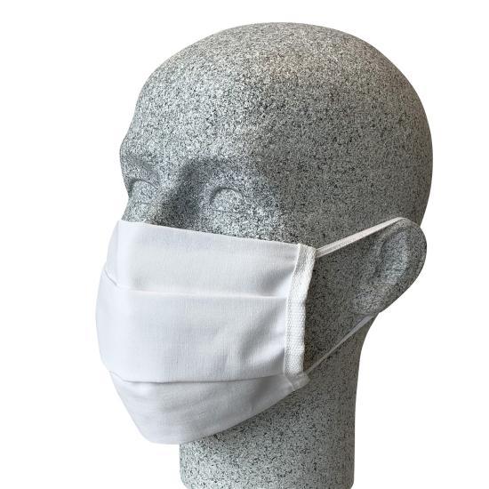 Mund-/Nasenmaske mit Gummiband, weiß