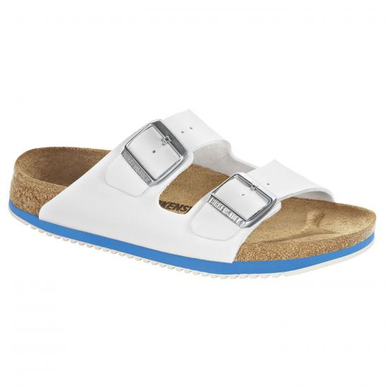 Birkenstock Arizona SL Damen-Sandale, weiß/blau
