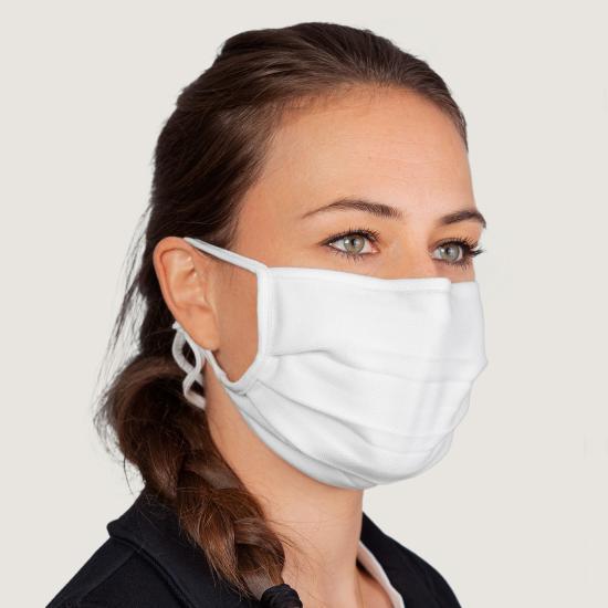 Hakro Mund-/Nasenmaske, Farbe weiß