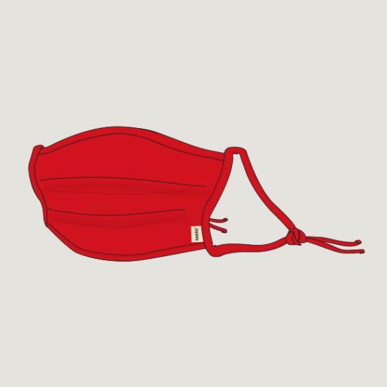 Hakro Kinder-Community-Maske, Farbe rot