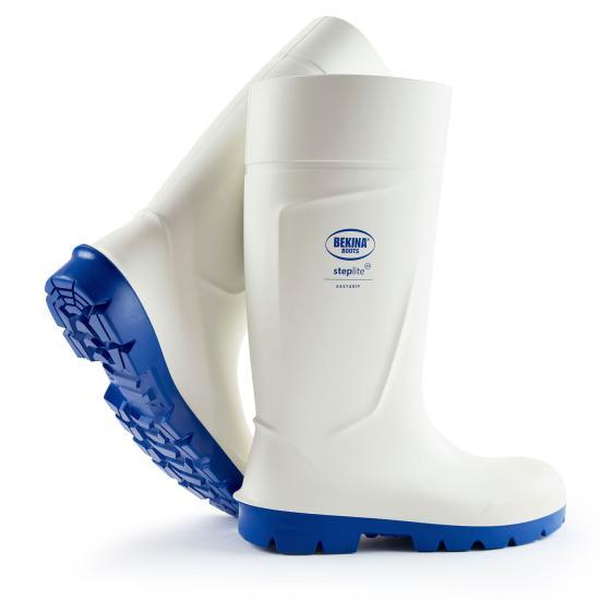 Bekina Boots Steplite Food PU-Stiefel weiß S4