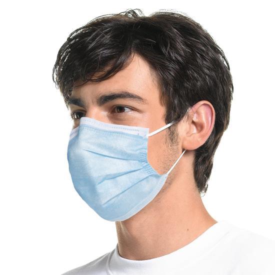 PP-Mund-Nasen-Maske 3-lagig blau