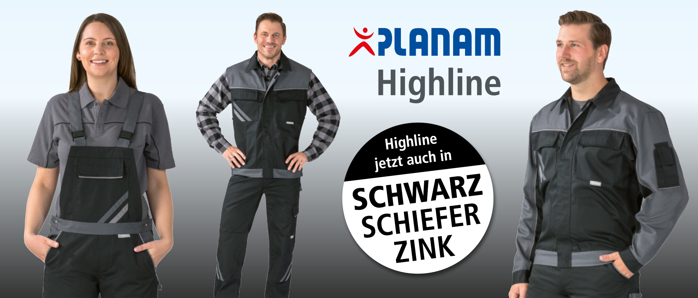 Slider Planam Highline schwarz