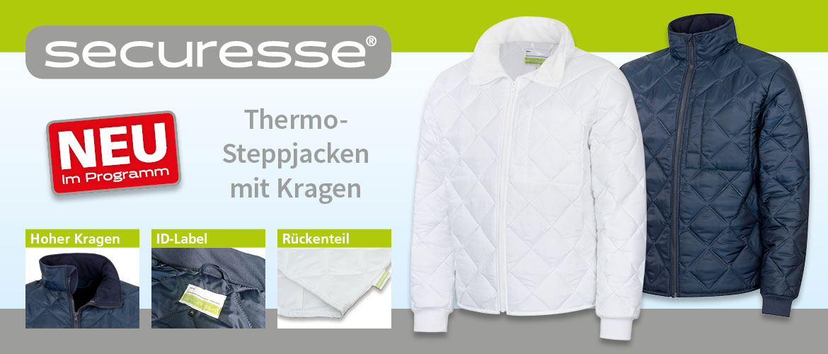 Slider securesse Thermojacken mit Kragen